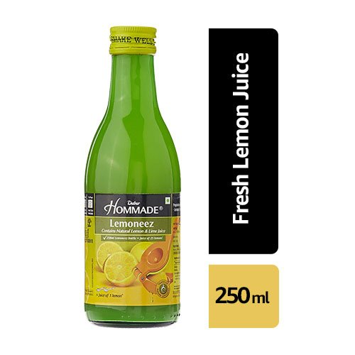 Dabur HommadeLemoneez (Natural Lemon and Lime Concentrate) – 250ml