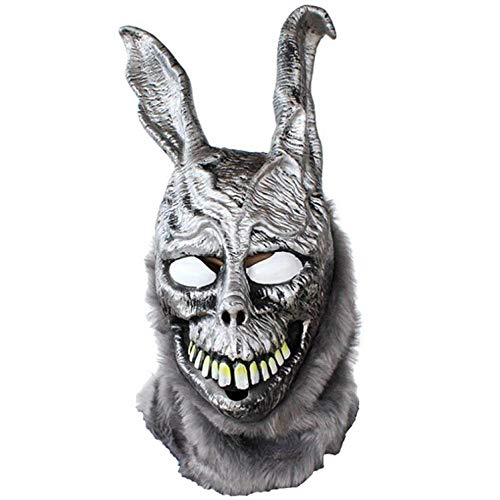 Angry Rabbit Mask Death Illusion Böse Silber Kaninchen Maske Tier Halloween Fte Latex Couvre Chef