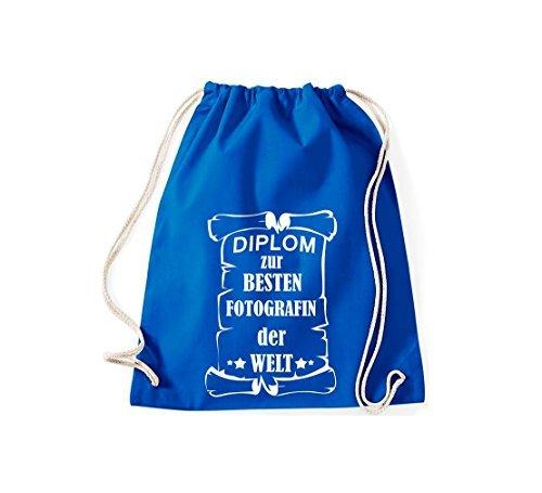 Shirtstown Borse palestra Diploma per migliore Fotografin mondo - blu, 37 cm x 46 cm blu reale
