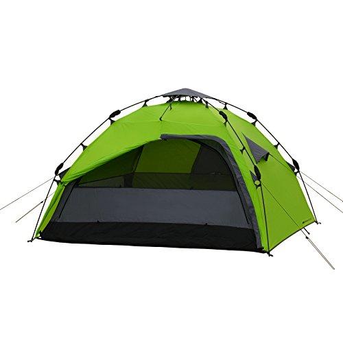 4 Mann Sekundenzelt Qeedo Quick Maple 4, Campingzelt mit Quick Up System, Innenhöhe: 140 cm - Grün - 5