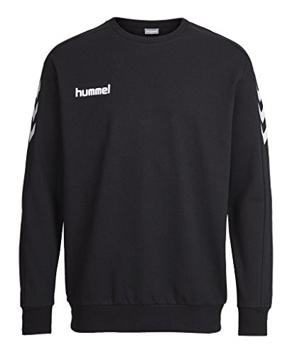 Hummel Core Cotton Sweat Felpa da uomo, Uomo, Sweatshirt CORE COTTON SWEAT, Black, XL