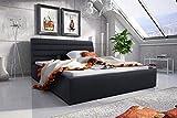 Best For Home Boxspringbett EMI mit Luxus 7-Zonen Taschenfederkernmatratze oder Bonellfederkernmatratze in Härtegrad H2, H3, H4 (Schwarz, 200 x 200 cm)