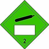 Espectro Industrial 13765'comprestainless acero efecto SIGND 2símbolo de vinilo autoadhesivo...