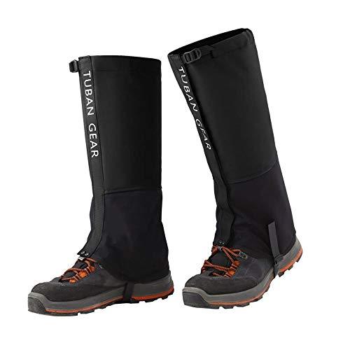 WanderGaiters Snow Gaiters Leg Gaiters Waterproof Boot Shoe Cover for Adults Kids Men Women Outdoor Mountain Hunting Climbing Walking Walking Skiing,Black,S