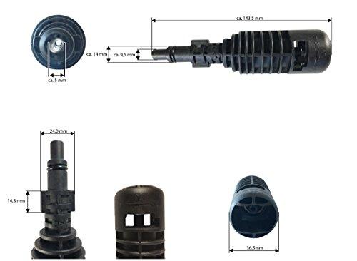 Adapter 1 Parkside LIDL PHD 100 A1 B2 C2 D2 E3 und PHD 150 A1 B2 C2 D3 passend auf z.B. Kärcher Zubehör (Abmessungen siehe Bilder)