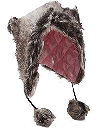 Bonnet thermique trappeur en imitation fourrure - Femme