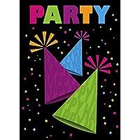 Hot Pink Polka Dot Invitations 8ct Unique Party Favors 37513