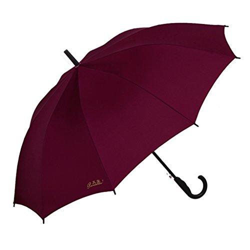 Umbrella Semi-Automatique Parapluie Parapluie Parapluie Poignée Droite Parapluie Long Windproof Parapluie Parapluies Ensoleillées Affaires Alimentation en Eau
