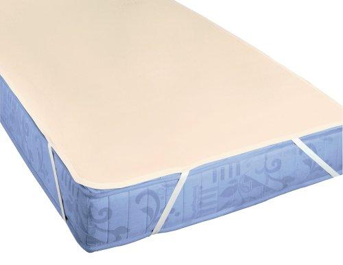 biberna 808301 Molton Matratzenauflage Premium Qualität, nach Öko-Tex Standard 100, ca. 160 x 200 cm, natur