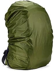 Resistente al agua Camping senderismo mochila bolsa impermeable funda impermeable para polvo de nailon mochila de senderismo camping Escalada Deportes al aire libre, Negro (35–55L), Verde, 55-60L