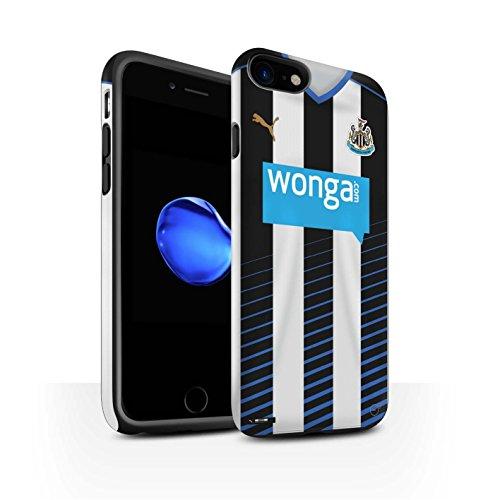 Officiel Newcastle United FC Coque / Matte Robuste Antichoc Etui pour Apple iPhone 7 / Taylor Design / NUFC Maillot Domicile 15/16 Collection Footballeur