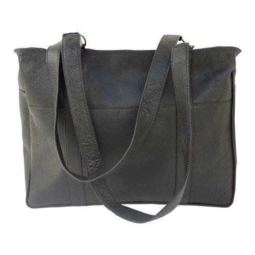 piel-leather-petit-sac-shopping-noir-taille