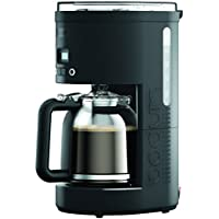 BODUM 11754-01UK BISTRO 12-Cup Programmable Coffee Maker, Plastic, 900 W, Black
