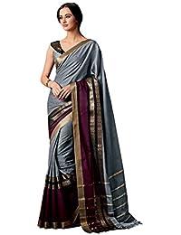 Aarti Apparels Cotton Saree (Rangrezzz-106_Grey)