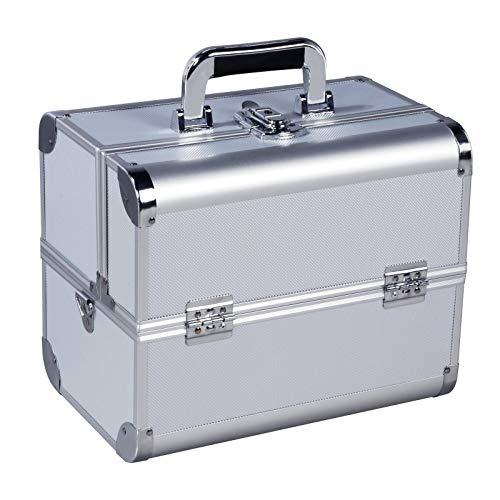 Yaheetech Valigetta per Trucchi Cosmetici Elegante Beauty case Make up Cassetta Porta Attrezzi per Estetista