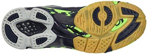 Mizuno Wave Lightning Z2 Mid, Chaussures de Volleyball Homme, Bleu/Vert/Blanc Blu (Dressblues/White/Greengecko)