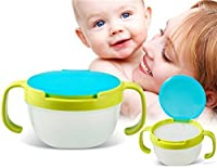 Leakproof Baby Snack Bowl Biscuits Cup Baby Cup With Handle (Yellow)