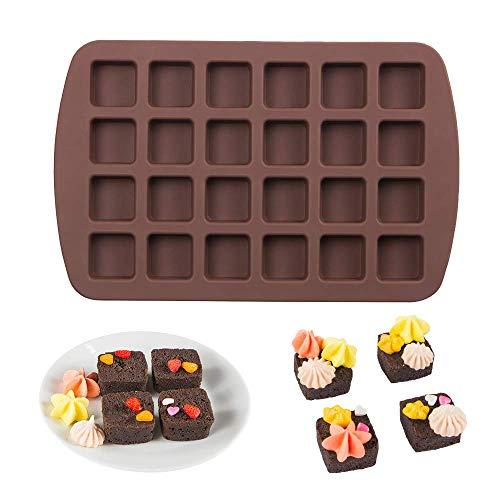 Webake Mini-Brownie-Pfanne, quadratisch, Silikon, für Keto Fat Bomb, Schokolade, Erdnussbutter