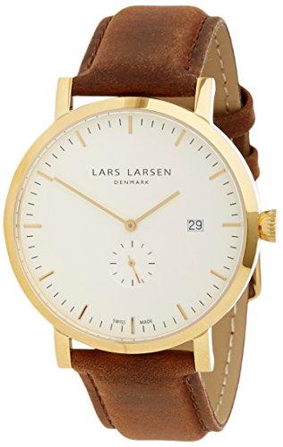 Lars Larsen - 131GWBL - Montre Homme - Quartz Analogique - Bracelet Cuir Marron