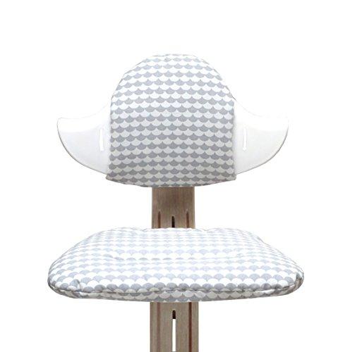 Blausberg Baby - Sitzkissen Set für Nomi Hochstuhl von Evomove - Schuppe Grau