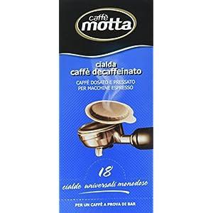 Motta Caffè Decaffeinato, Dosato e Pressato per Macchine Espresso - 18 Cialde