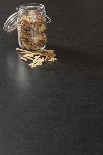 WORKTOPEXPRESS Schwarzer Granit - Resopal Küchenarbeitsplatten (4.1m × 600mm × 38mm)