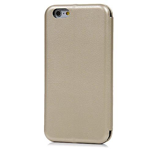 Mavis's Diary Étui iPhone 6/iPhone 6S Coque en PU Cuir Or Housse Portefeuille Étui à Rabat Flip Cover Phone Case+Stylet+Bouchon Anti-poussière rose or