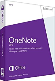 Microsoft OneNote 2013 - 1PC (Product Key Card ohne Datenträger)
