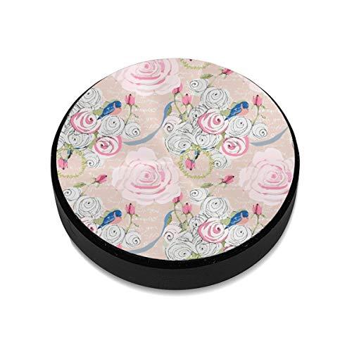 Liuzhis Bluebirds Roses On Blush Weiß French Script Ch Magnethalterung für Mobiltelefone Magnetischer Autohalter Handyhalter