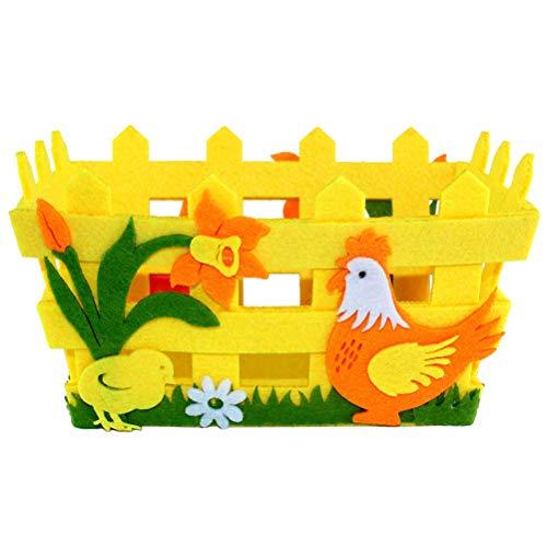 TUPARKA 6 PZ Cestini Artigianato di Carta di Pasqua con Adesivo di Pasqua Bottoni a Forma di Uovo per Bambini Decorazione di Pasqua Imbottiture per Uova