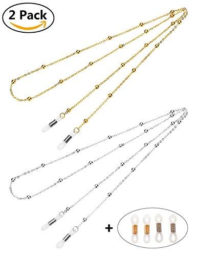 68cb0af21ef474 Mini Tree Brillenketten für Lesebrillen Gold und Silber Perlen Brillen Cord  Brillenband Damen.