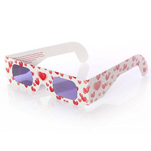 Herzbrille Liebesrausch - Jeder Lichtpunkt wird abends zum Herz!