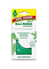 Idea Regalo - Arbre Magique Cenere Magica, Deodorante Auto Granulare, Fragranza Pino, con Pietra Pomice 100% Naturale, Formula Cattura Fumo