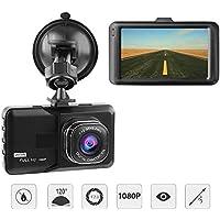 Ezonetronics 1080P Full HD Cámara De Coche Pantalla 3 Pulgadas,Dash Cam Motion Detection , WDR y G-Sensor