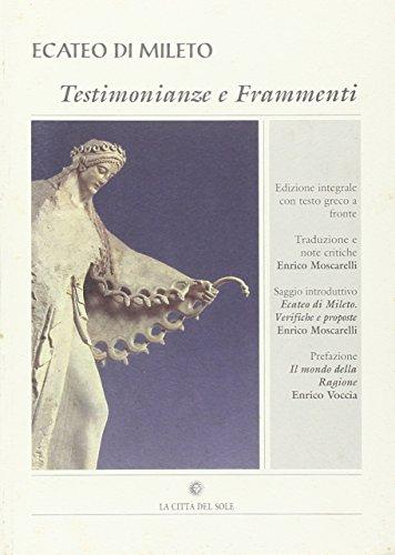 Ecateo di Mileto. Testimonianze e frammenti