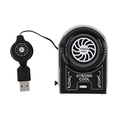 Preisvergleich Produktbild joyliveCY Mini Vacuum USB Kühler Luft extrahieren Kühler Lüfter für Notebook Laptop Peripheriegeräte Schwarz