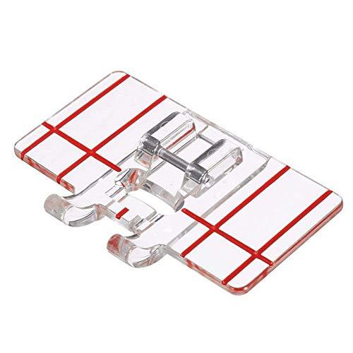 Presseur de pied parallèle en plastique transparent pour machine à coudre domestique multifonctionnel.