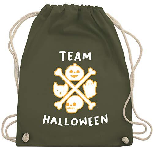 Halloween - Team Halloween - Unisize - Olivgrün - WM110 - Turnbeutel & Gym Bag