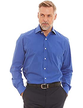Savile Row Men's White Linen Blend Casual Fit Short Sleeve Shirt