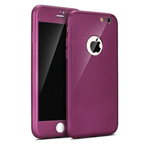 Coque pour iPhone 6,iPhone 6S 360 degré protection Complète Coque + Verre trempé Film de Protection,ETSUE Double Faces Coque Silicone 360° Protection ...