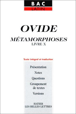 Métamorphoses, livre X