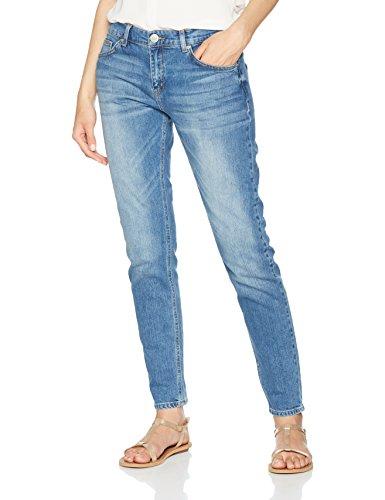 Second Female Damen Boyfriend Jeans Hose, Blau (Light Blue Denim 5996), W32/L38 5-pocket-cropped Pants