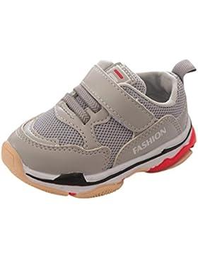 SUCES Babymädchen oder Jungen Schuh Sneaker Rutschfest Weiche Sohle Kleinkind Lauflernschuhe Krippeschuhe Kleinkind...