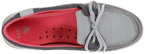Chaussures Crocs Walu Boat Shoe W Boat Light Grey/Graphite