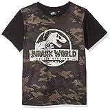Jurassic Park Jungen T-Shirt Camo, Grün (Khaki), 7-8 Jahre
