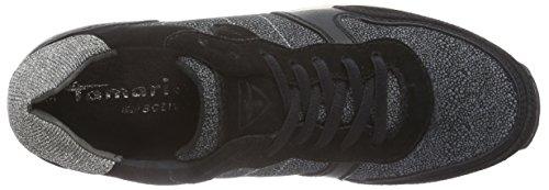 Tamaris - 23602, Sneaker basse Donna Multicolore (Mehrfarbig (Blk/Wht Struct 051))