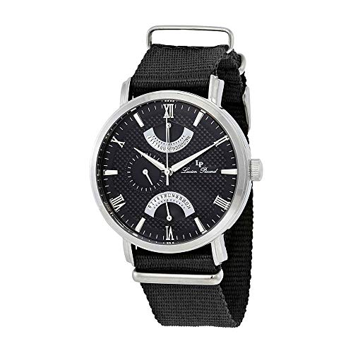 Lucien Piccard Black Dial Dual Time Mens Watch 10340-01-NS