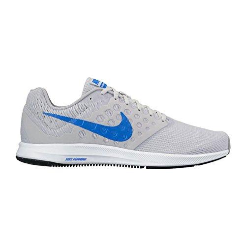 Nike Downshifter 7, Scarpe Running Uomo, Argento (Pure Gris Platinum/Hyper Cobalt-Wolf Grey-White), 44 EU