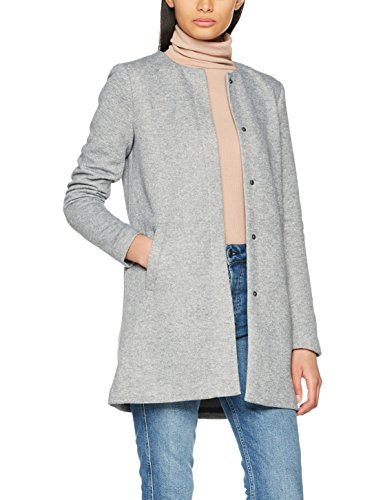 ONLY Damen Mantel Onlsidney Light Coat OTW Noos, Grau (Light Grey Melange), 38 (Herstellergröße: M)