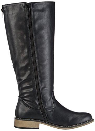 Rieker 94452-00, Stivali a gamba alta Donna Nero (Schwarz (nero / 00))